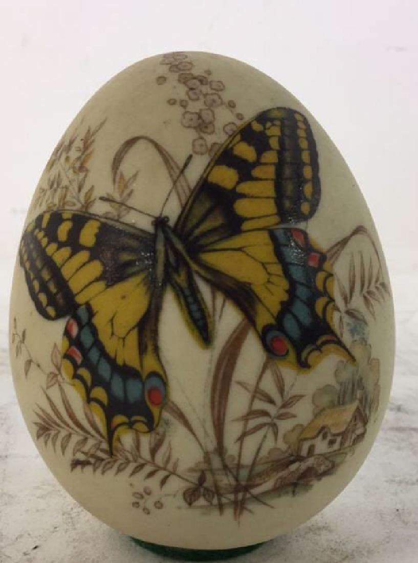 Lot 3 Decorative Marble and Pottery Eggs - 5