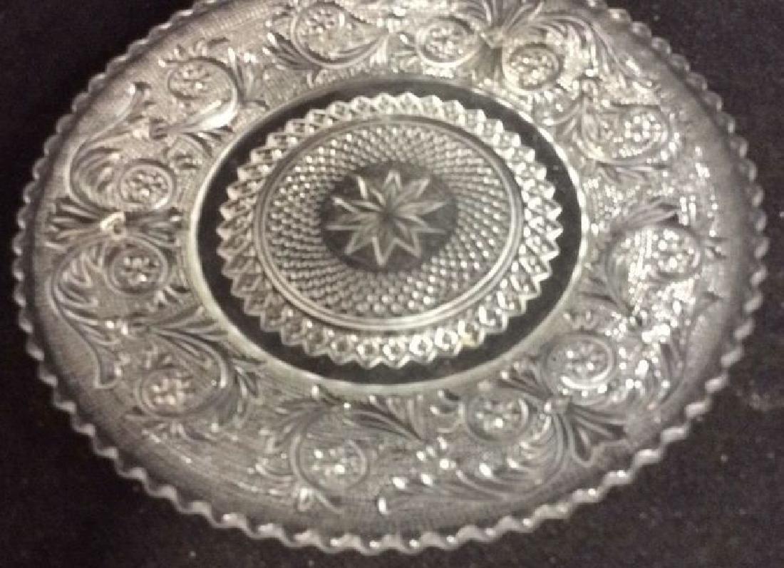 Set 9 Vintage Detailed Glass Plates - 2