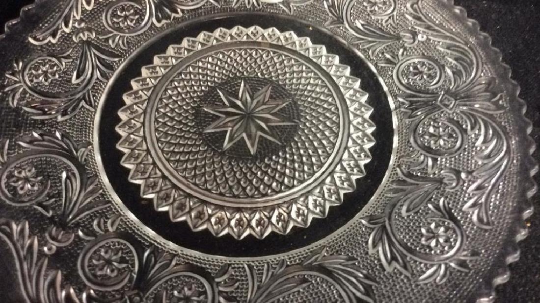 Set 9 Vintage Detailed Glass Plates - 5