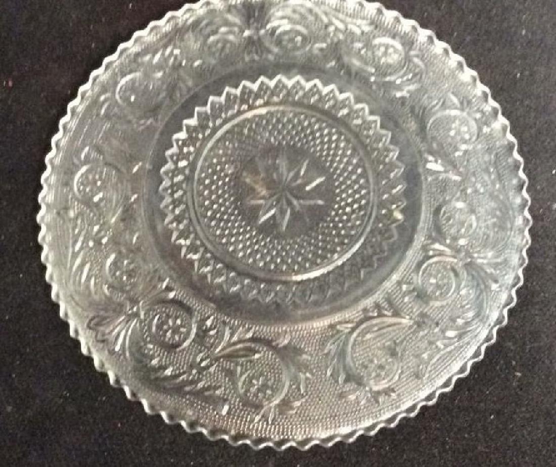 Set 9 Vintage Detailed Glass Plates - 6