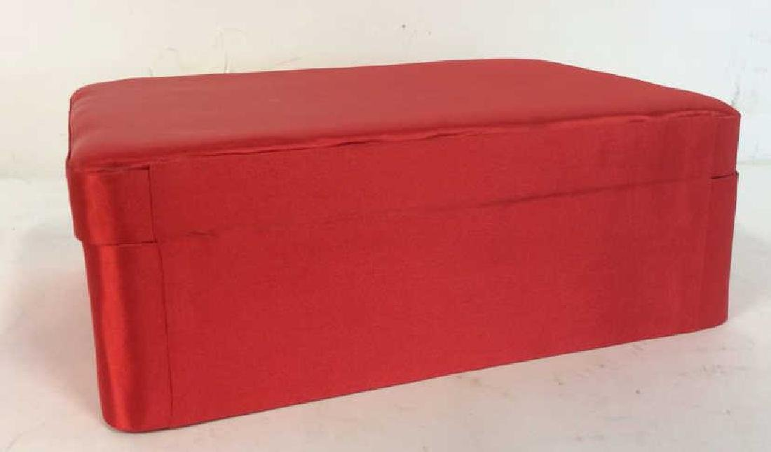 Red Toned Fabric Jewelry Box - 7