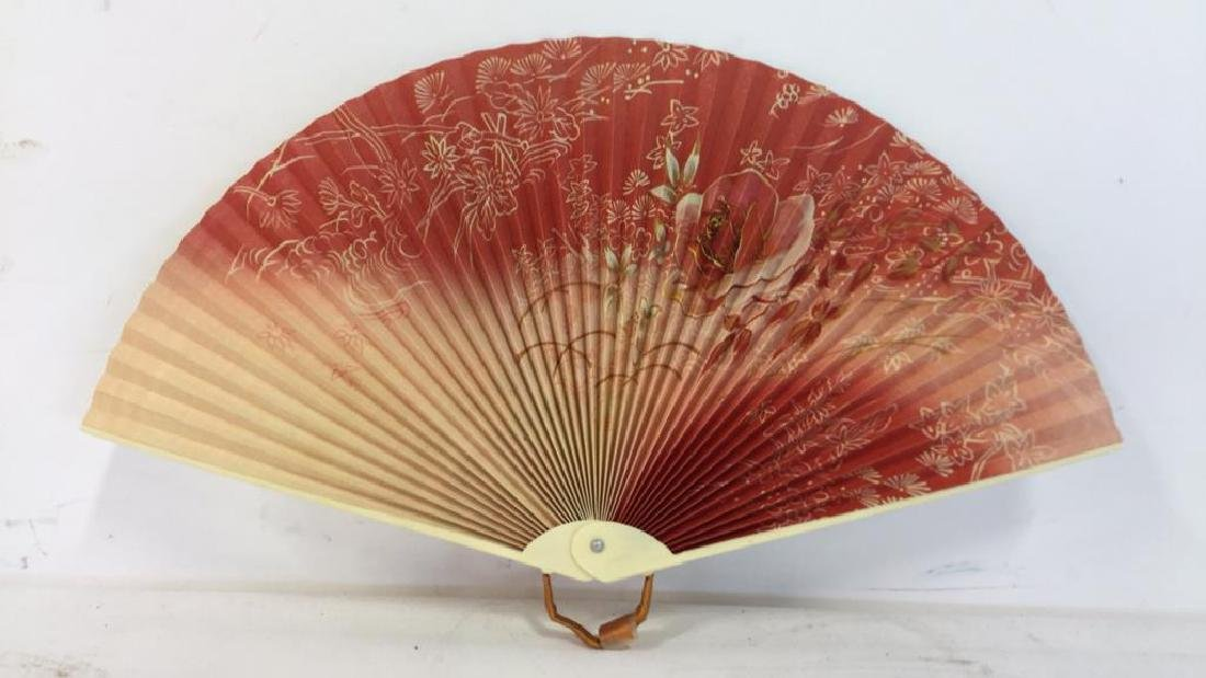 Lot 3 Oriental Style Handheld Fan - 3