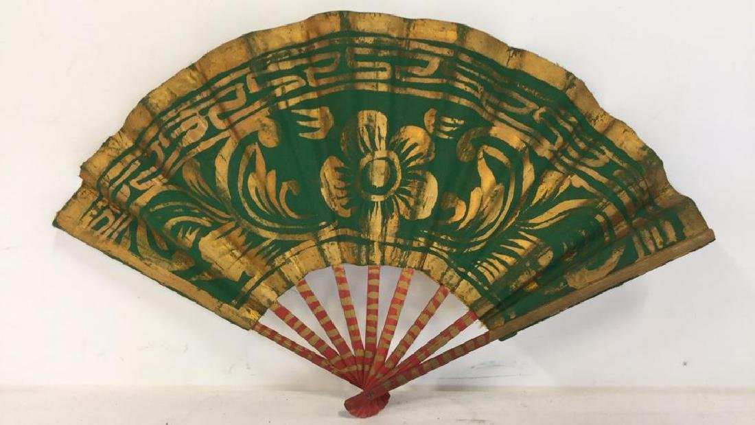 Lot 3 Oriental Style Handheld Fan - 4