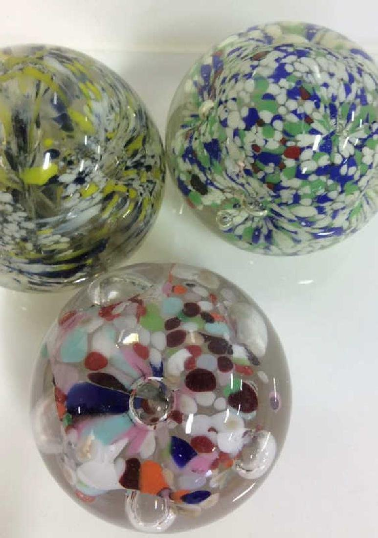Lot 3 Art Glass Collectible Paper Weights - 3