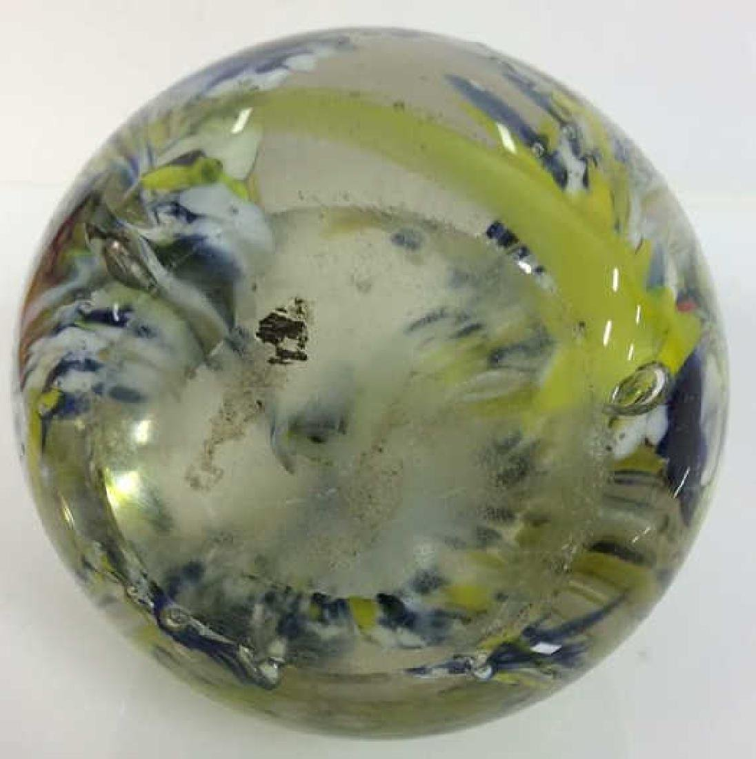 Lot 3 Art Glass Collectible Paper Weights - 5