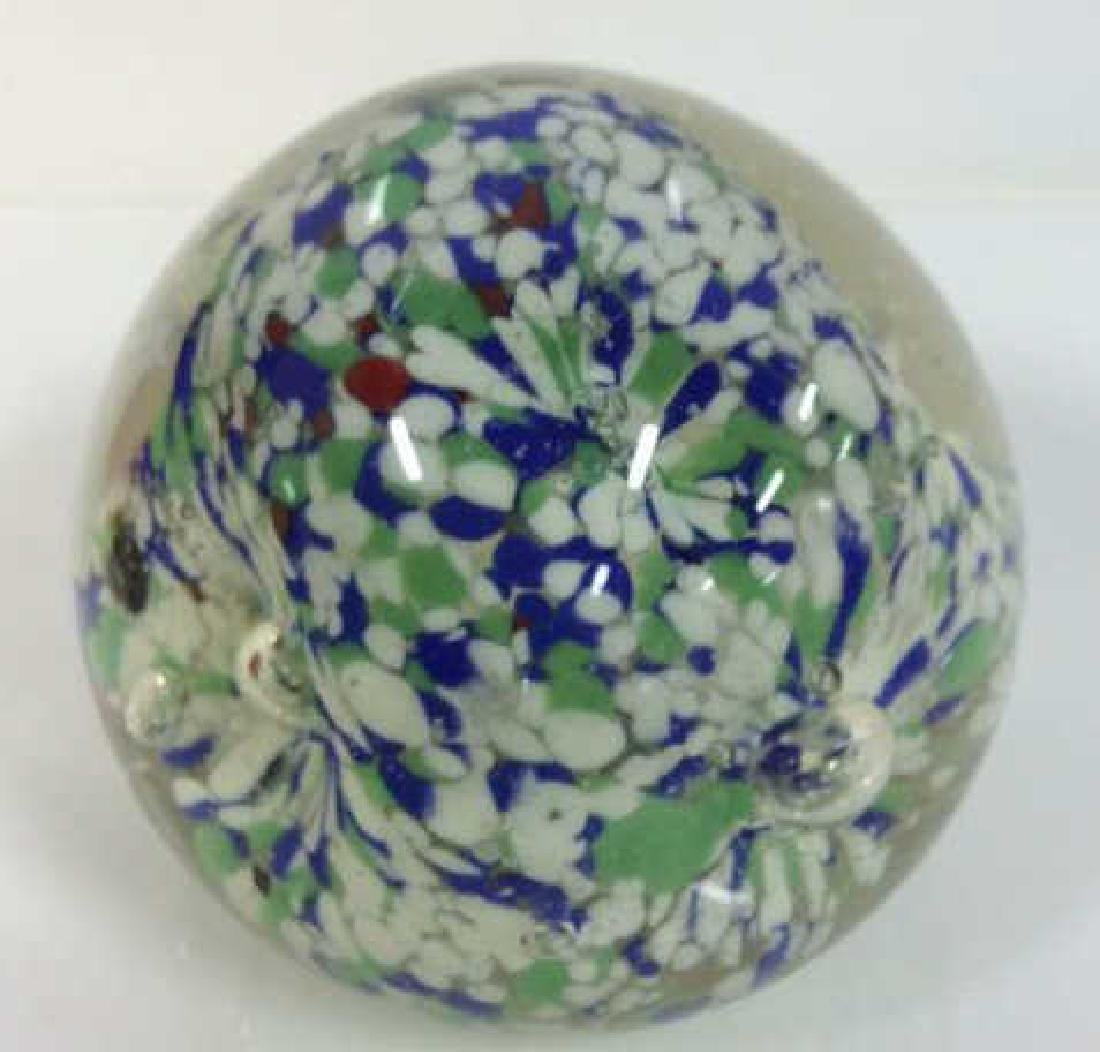 Lot 3 Art Glass Collectible Paper Weights - 6