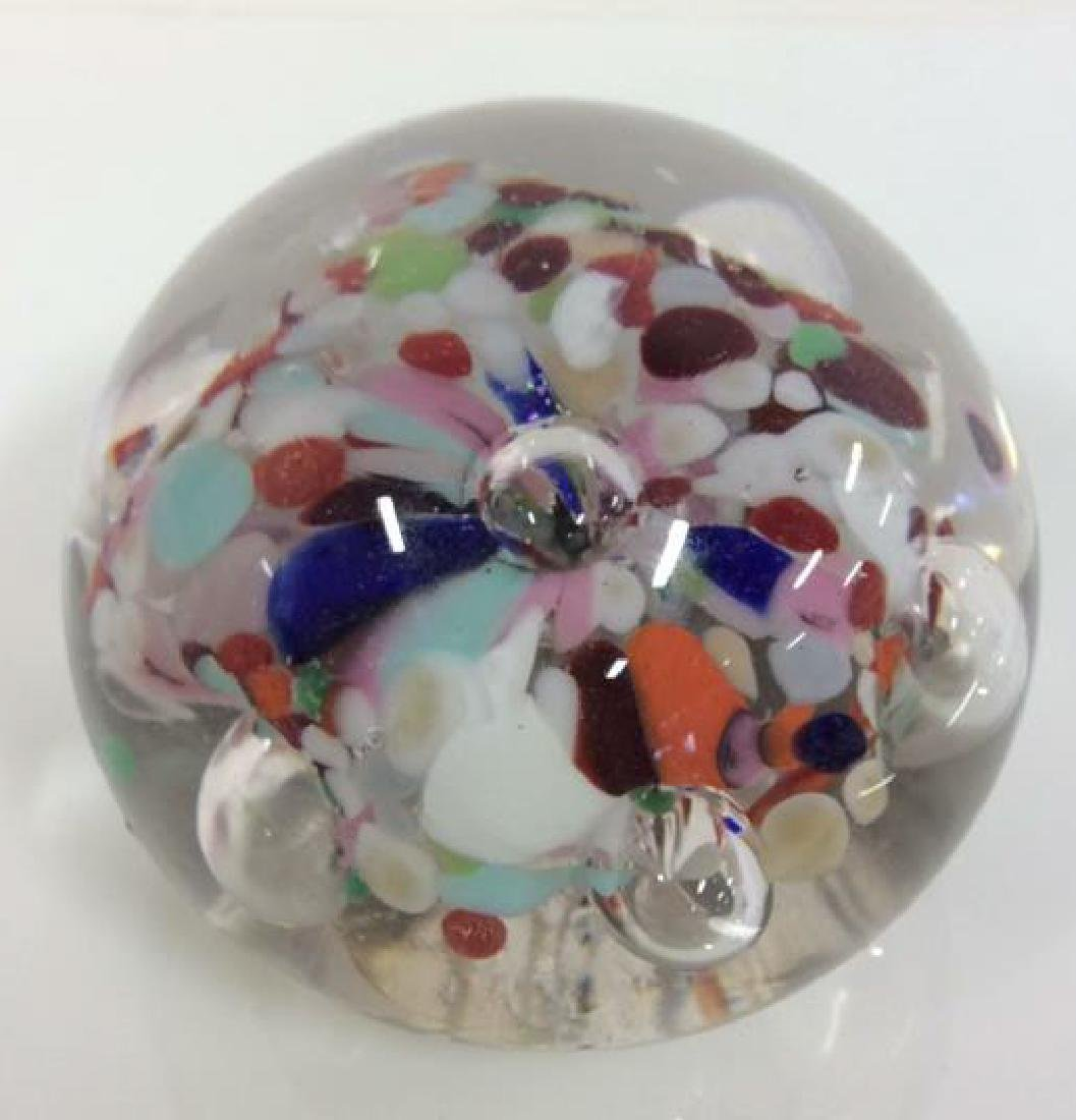 Lot 3 Art Glass Collectible Paper Weights - 8