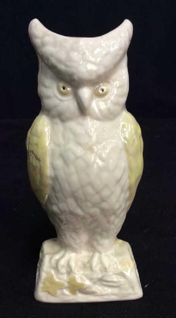 Vintage BELLEEK Ireland Owl Figural