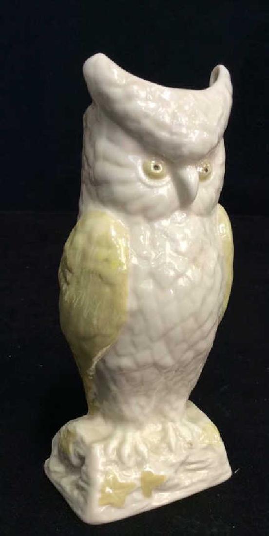 Vintage BELLEEK Ireland Owl Figural - 2