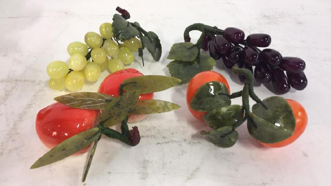 Ceramic Cornucopia & Assorted Faux Fruit - 4