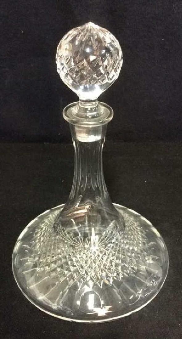 Vintage Cut Crystal Ships Flask Decanter