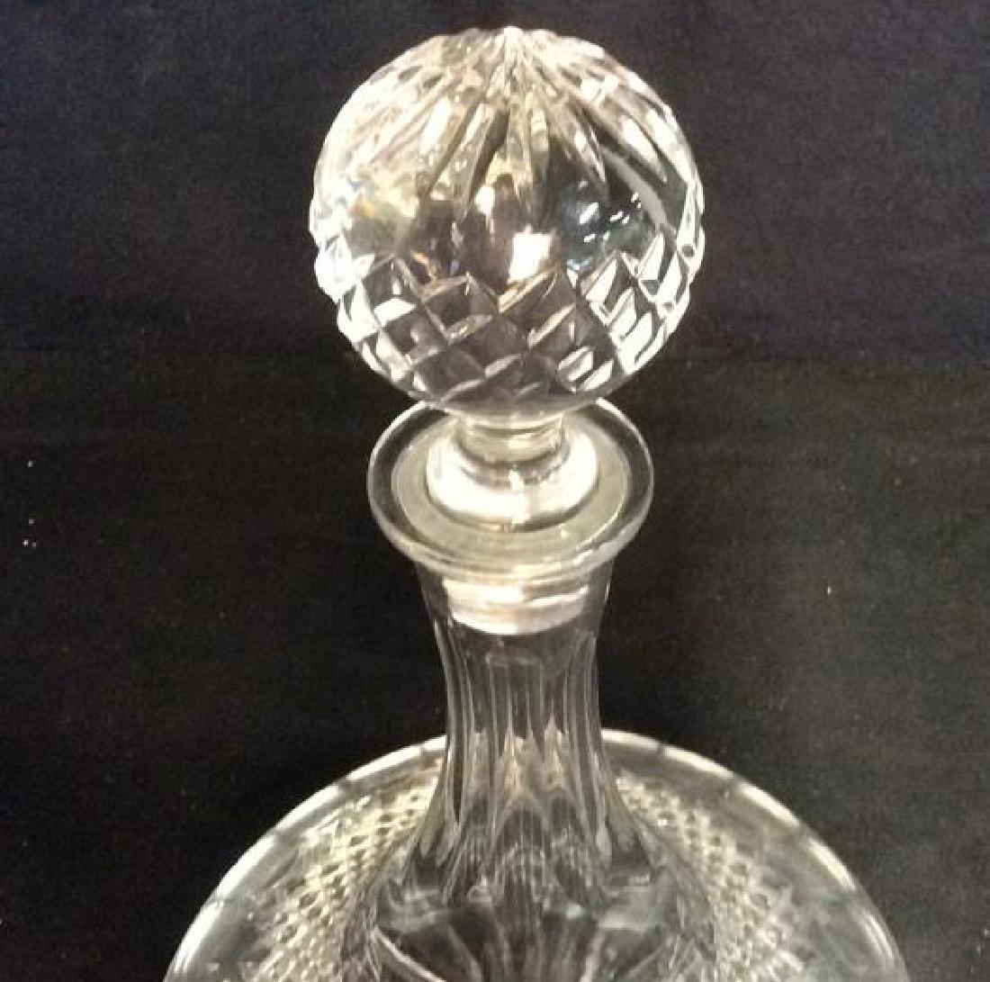 Vintage Cut Crystal Ships Flask Decanter - 3