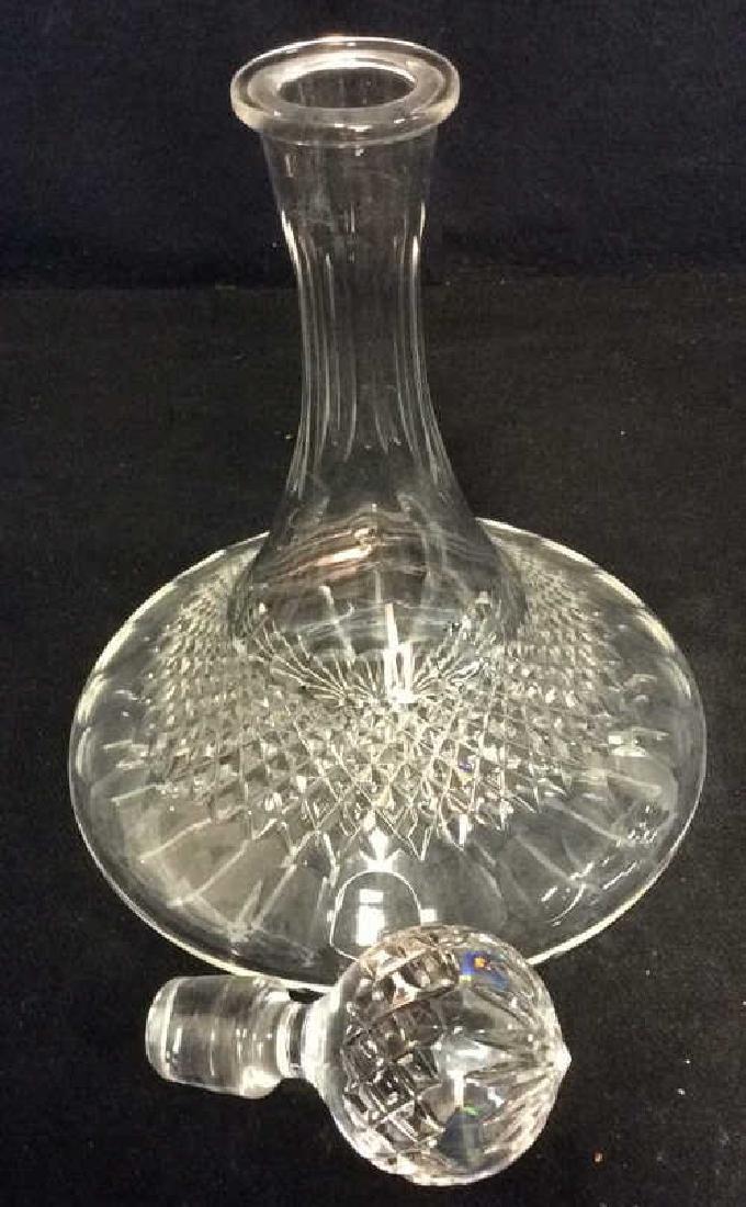 Vintage Cut Crystal Ships Flask Decanter - 4