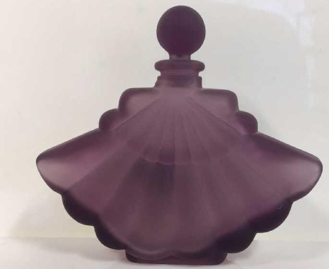 Lot 3 Assorted Art Glass Perfume Bottles - 3
