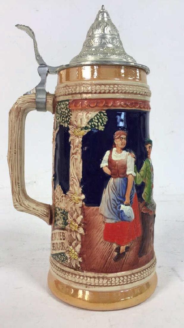 GERZ Lidded Ceramic  German Beer Stein