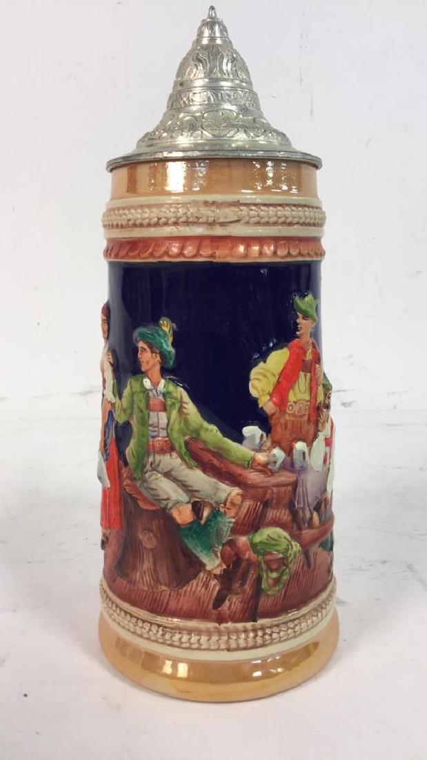 GERZ Lidded Ceramic  German Beer Stein - 2