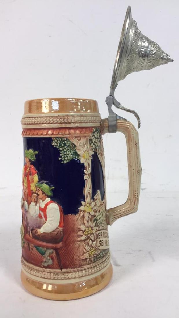 GERZ Lidded Ceramic  German Beer Stein - 3
