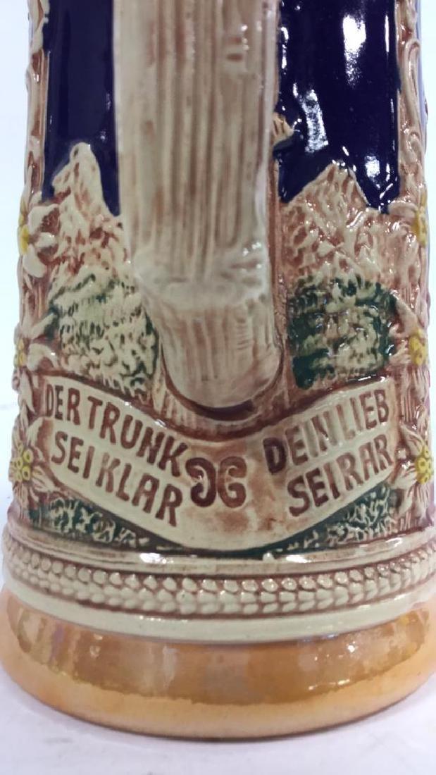 GERZ Lidded Ceramic  German Beer Stein - 7