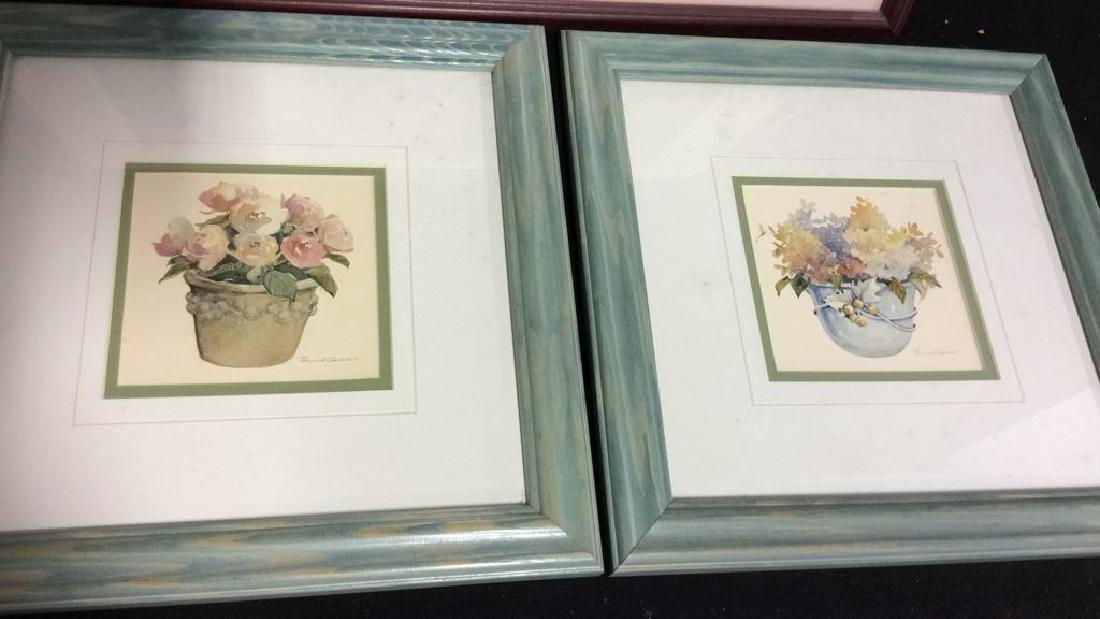 Lot 3 Framed Floral Art Prints - 2