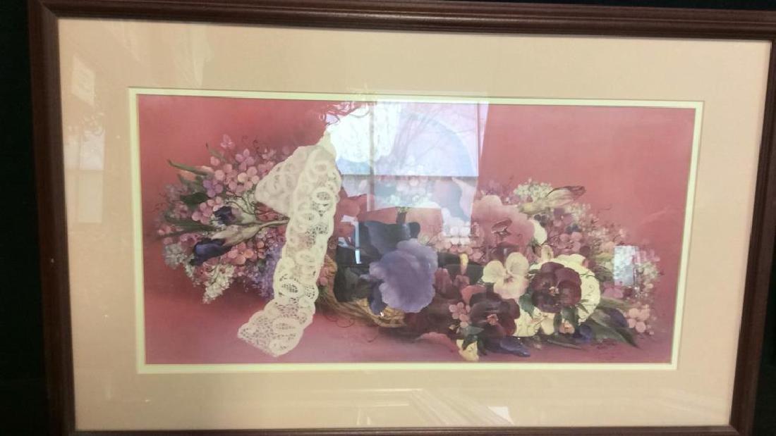 Lot 3 Framed Floral Art Prints - 3