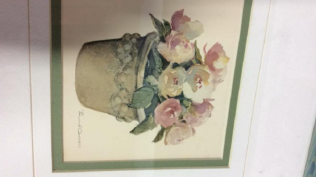 Lot 3 Framed Floral Art Prints - 6