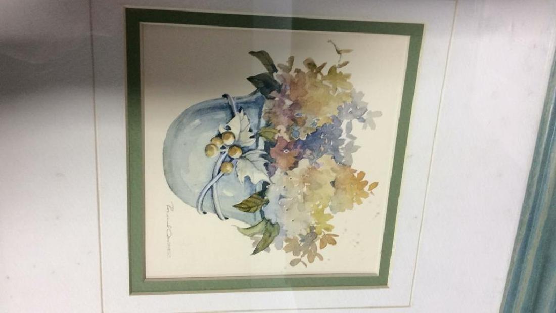 Lot 3 Framed Floral Art Prints - 7