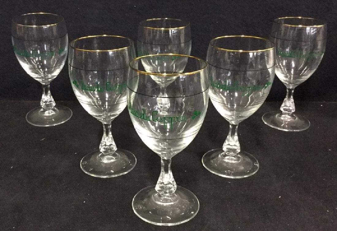 Set Six Crystal Irish Coffee Glasses, France