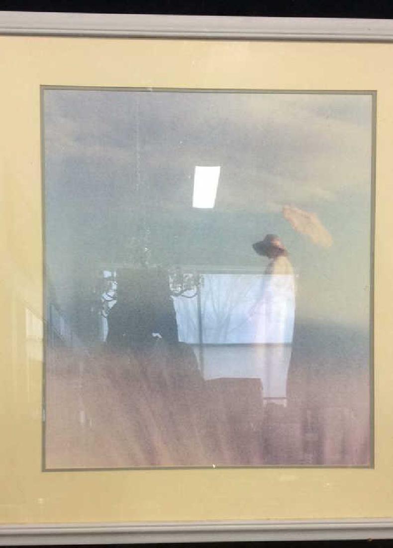 Framed Art Print Woman in Grass - 2