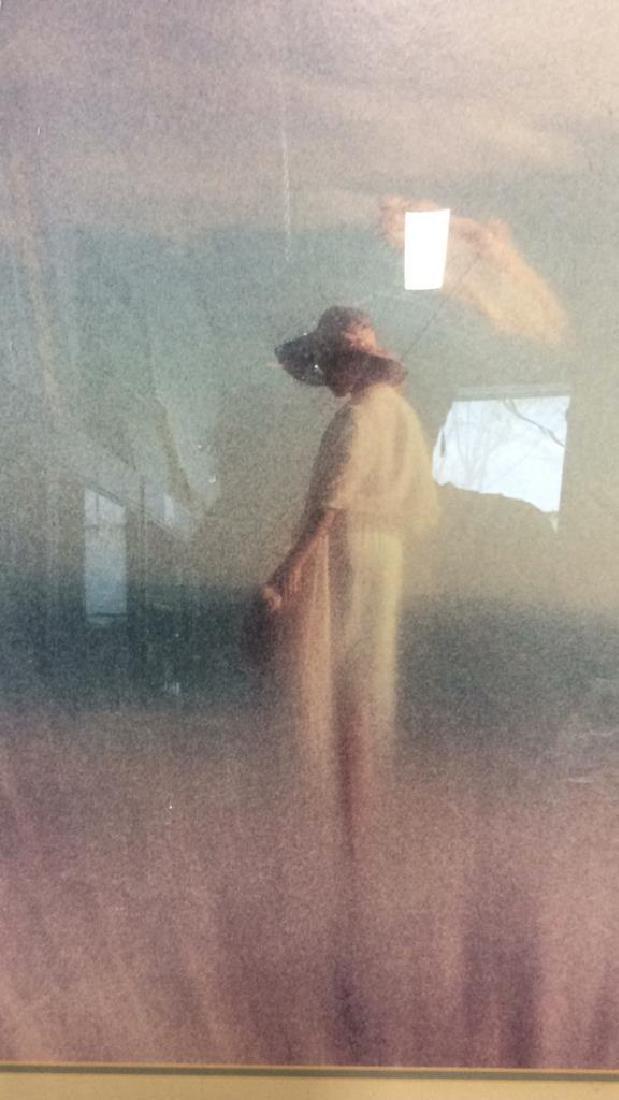 Framed Art Print Woman in Grass - 3