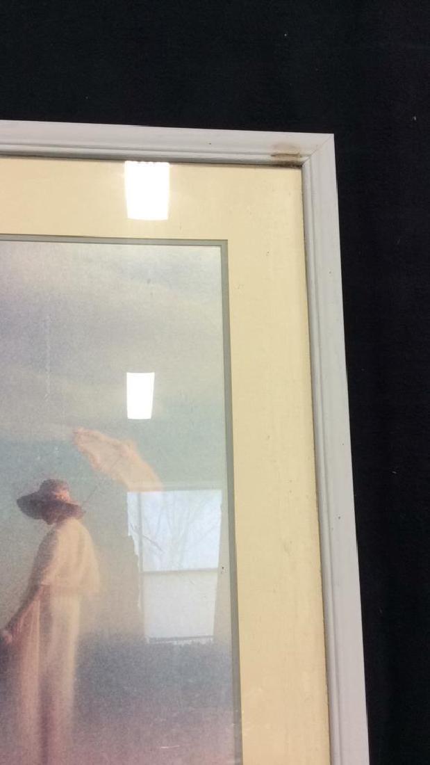Framed Art Print Woman in Grass - 5