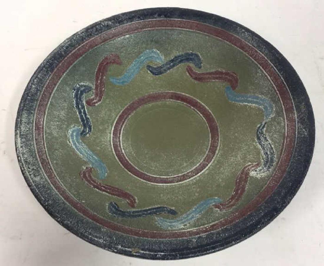 Multi Toned Ceramic Bowl W Stand - 2