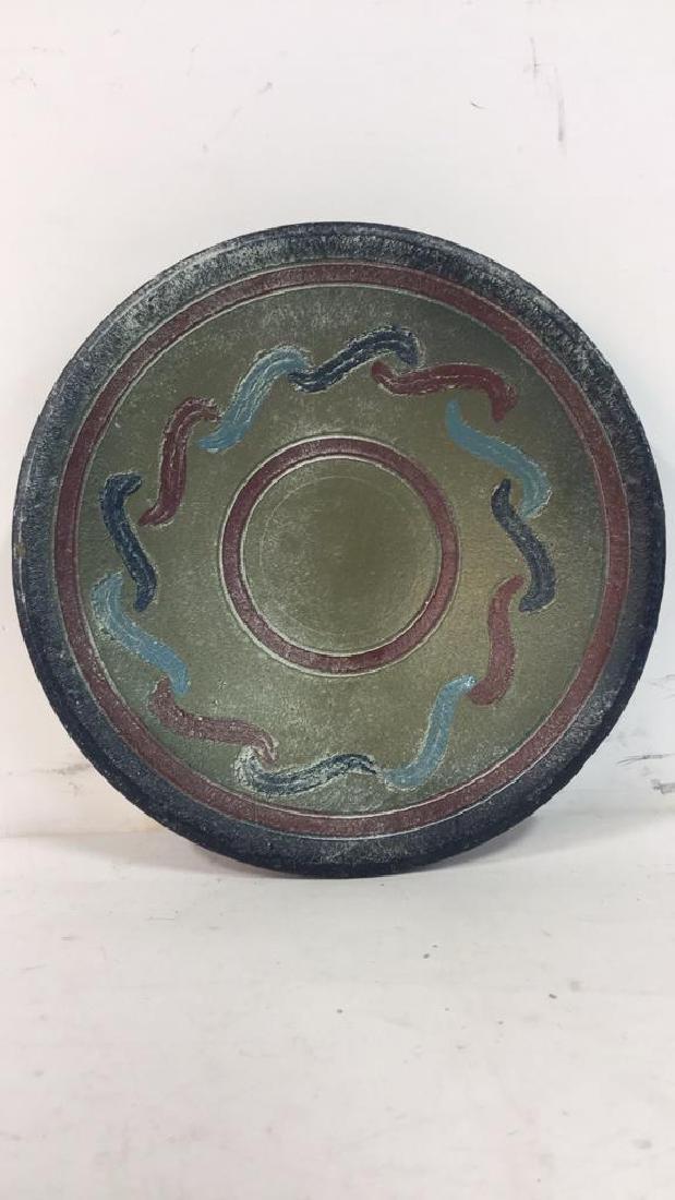 Multi Toned Ceramic Bowl W Stand - 4