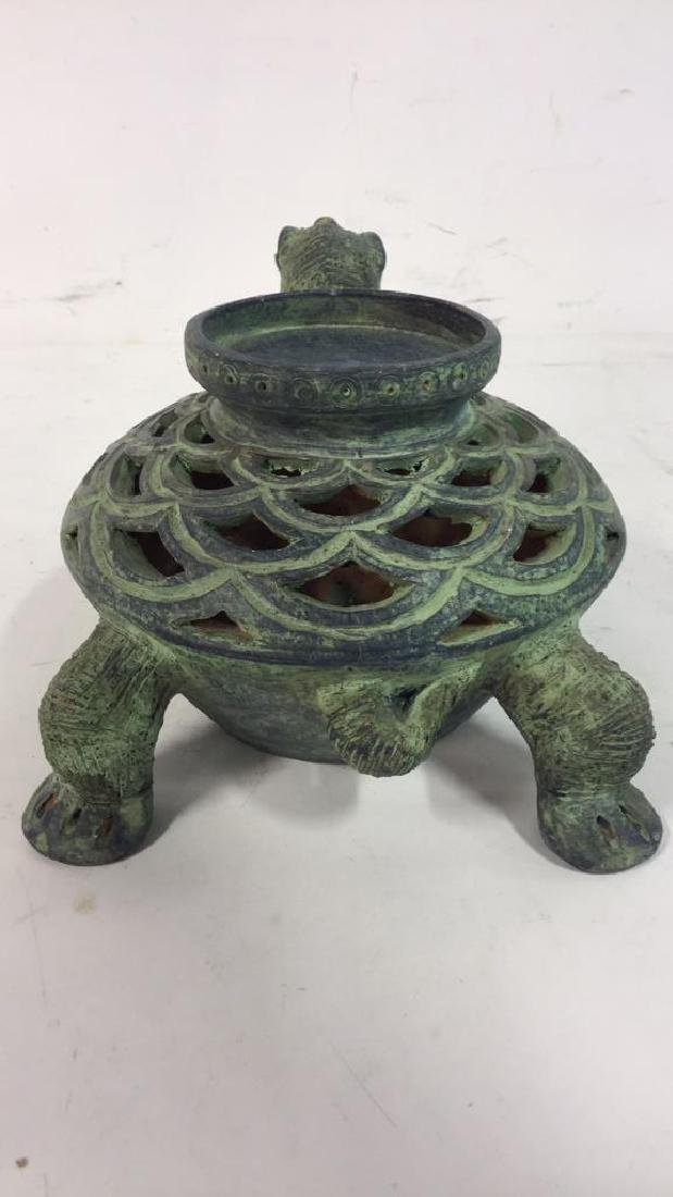 Ceramic Turtle Shaped Candle Holder - 6