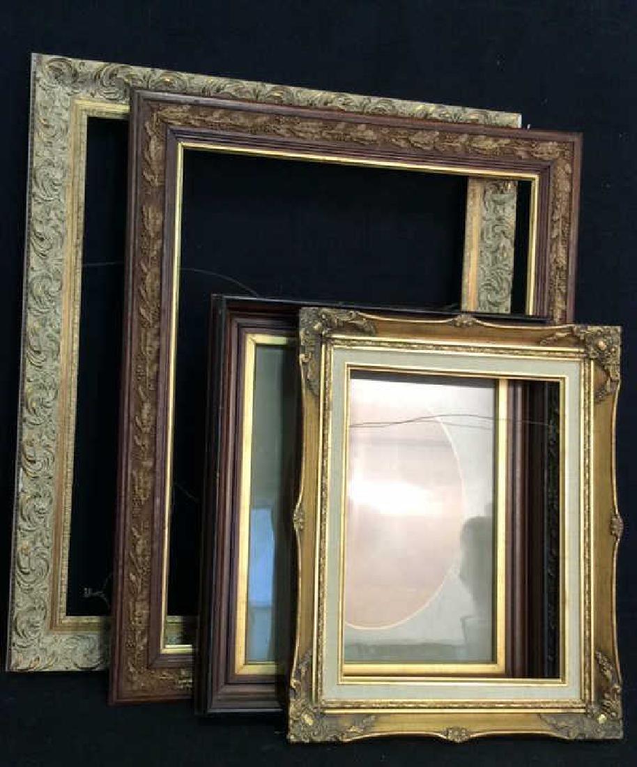 Lot 4 Assorted Wooden Art Frames