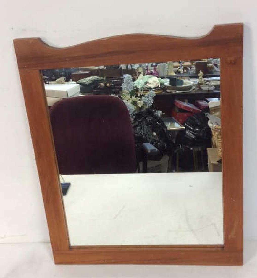 Maple Frame Shaped Wall Mirror - 4