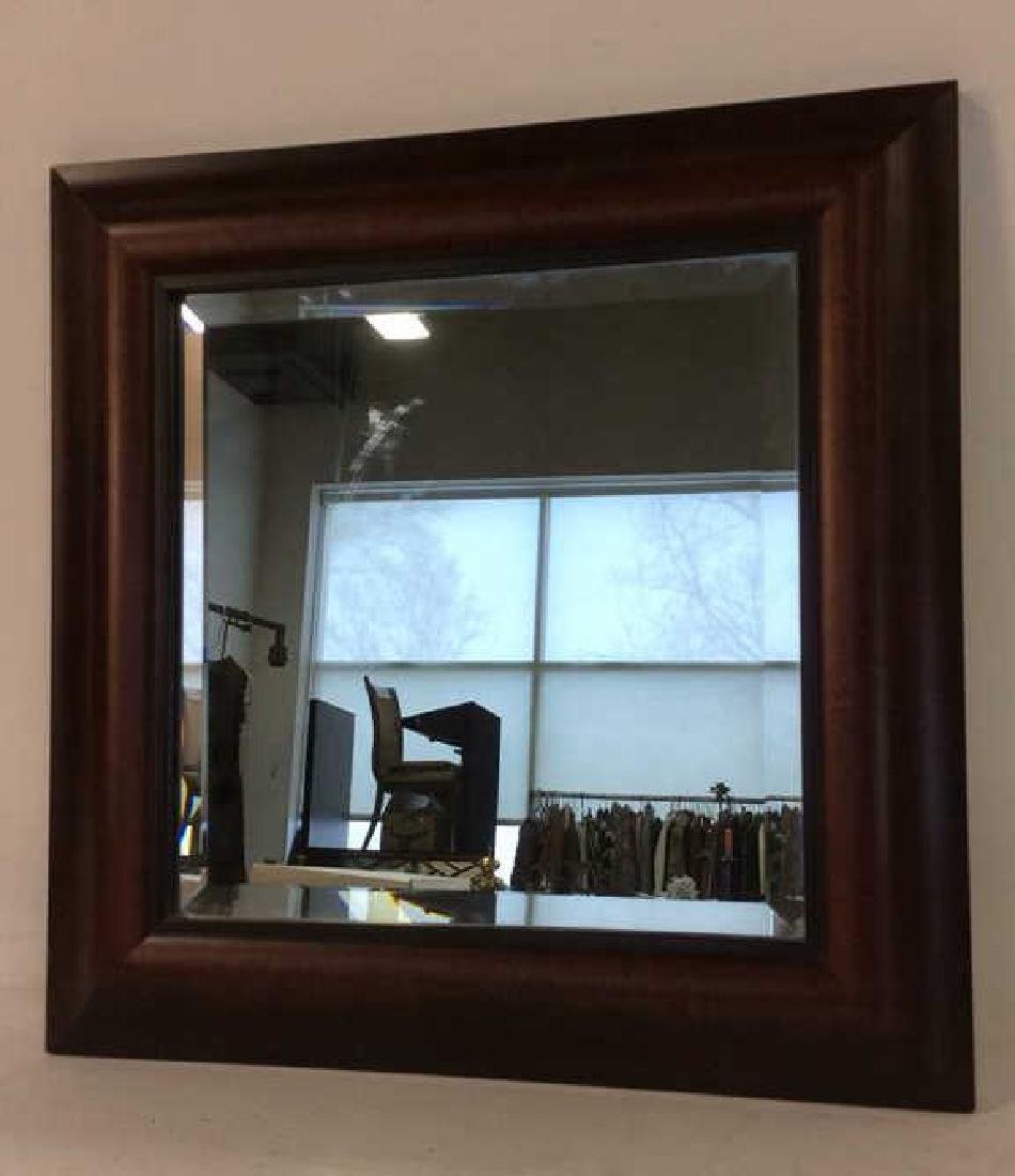 Carved Ogeed Wood Frame Beveled Mirror - 3