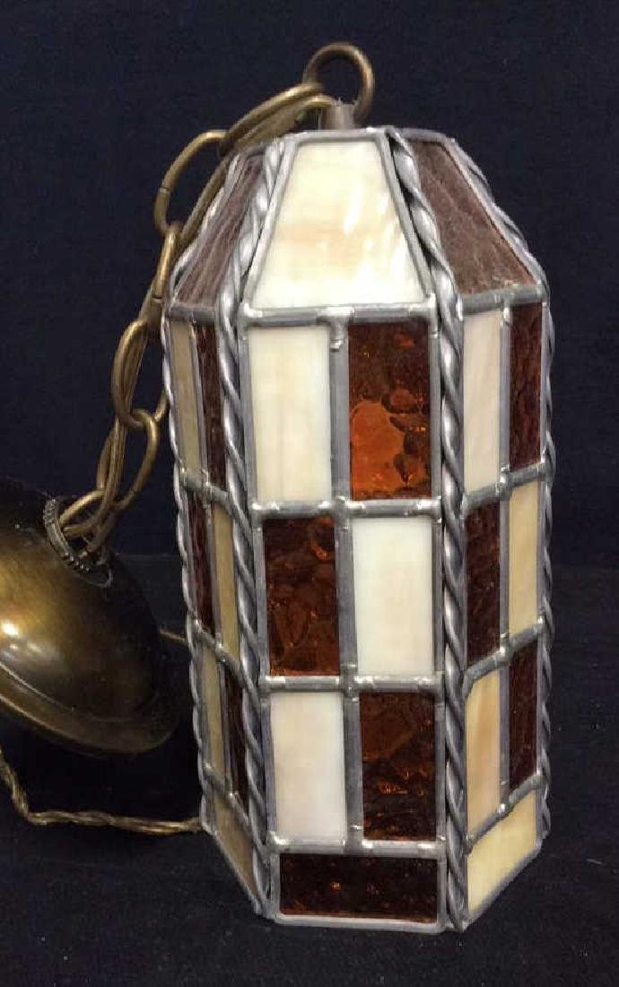 Stained Glass Hanging Light Lantern