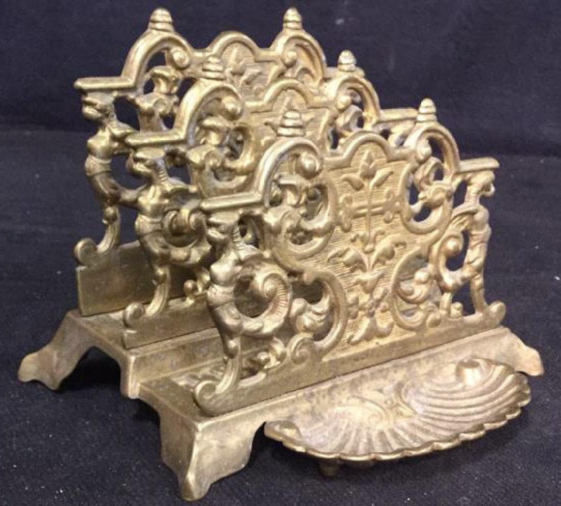 Antique Stepped Bronze Letter Holder