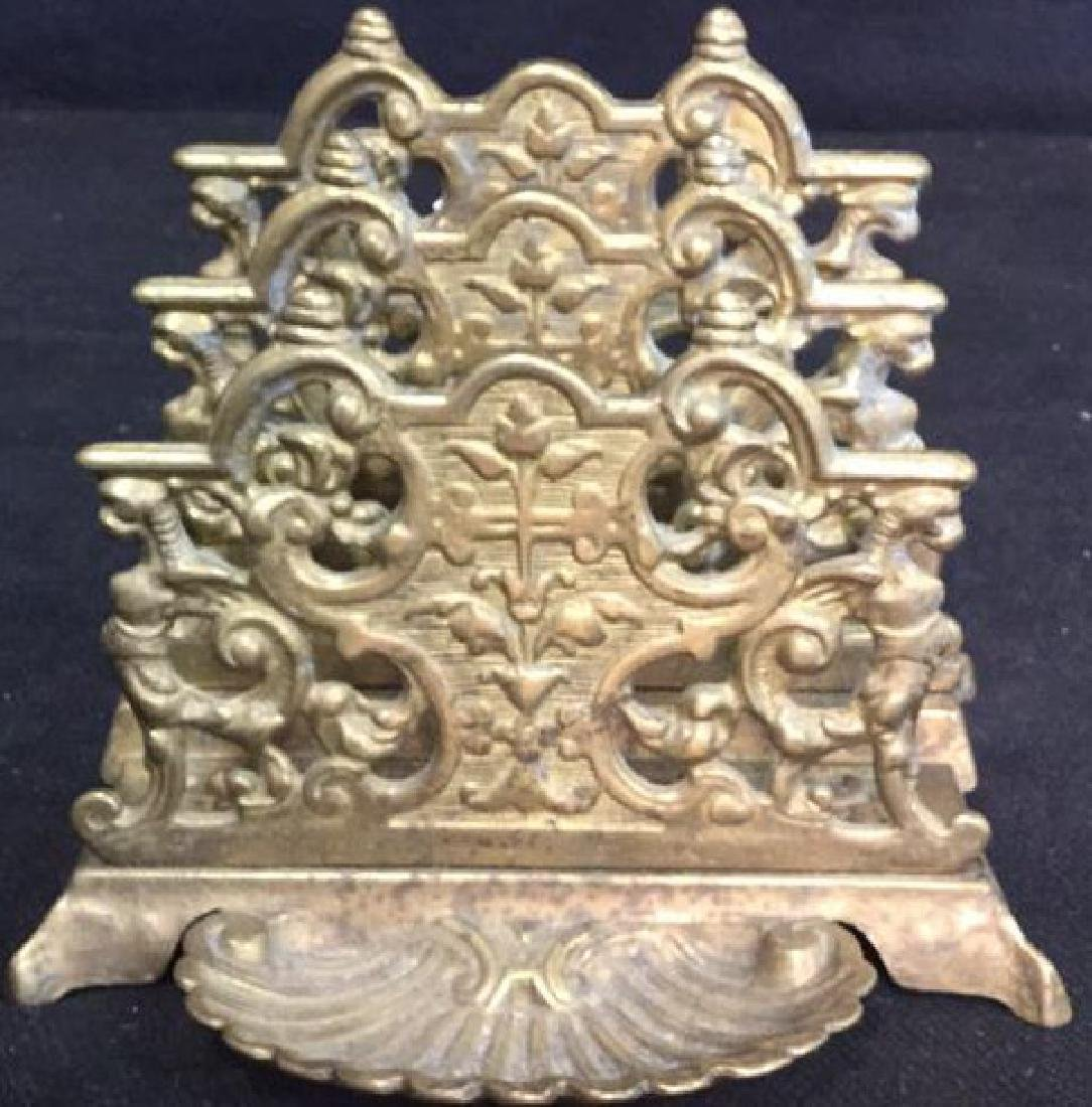 Antique Stepped Bronze Letter Holder - 2