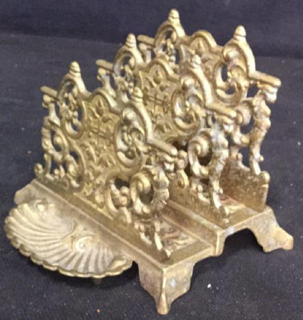 Antique Stepped Bronze Letter Holder - 3