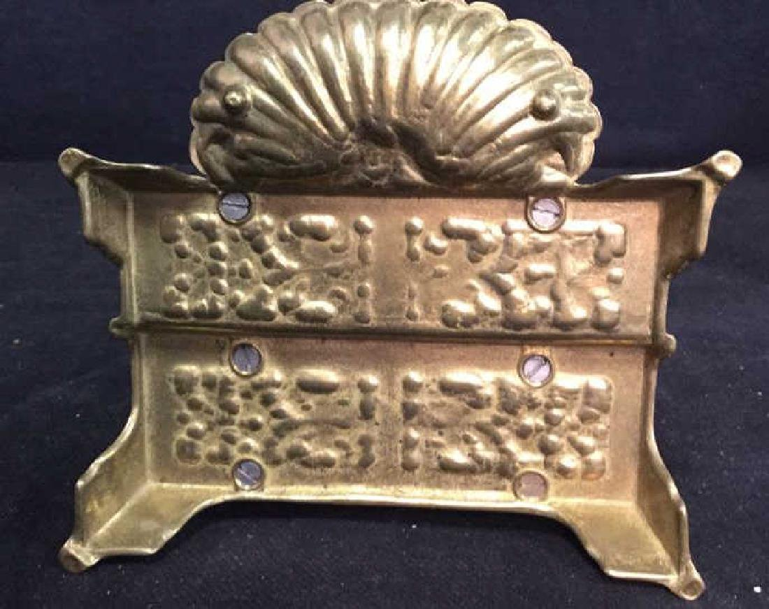 Antique Stepped Bronze Letter Holder - 7