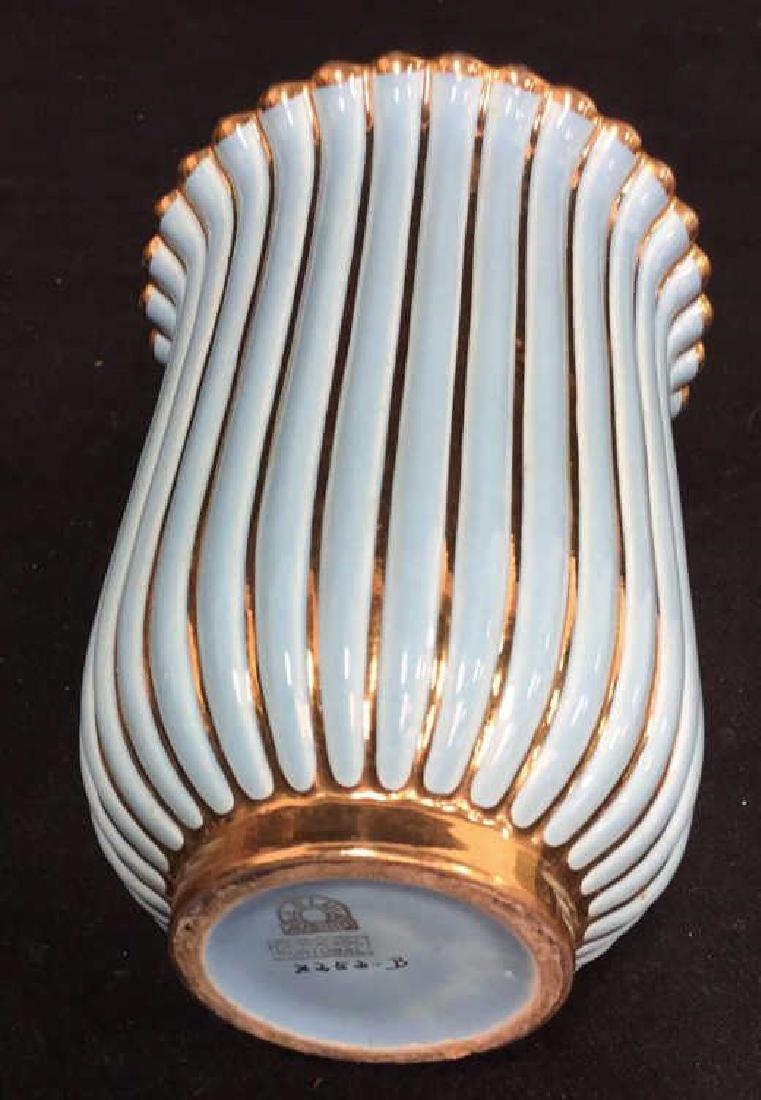 ALELUIA Vintage Aqua Gold Porcelain Vase - 4