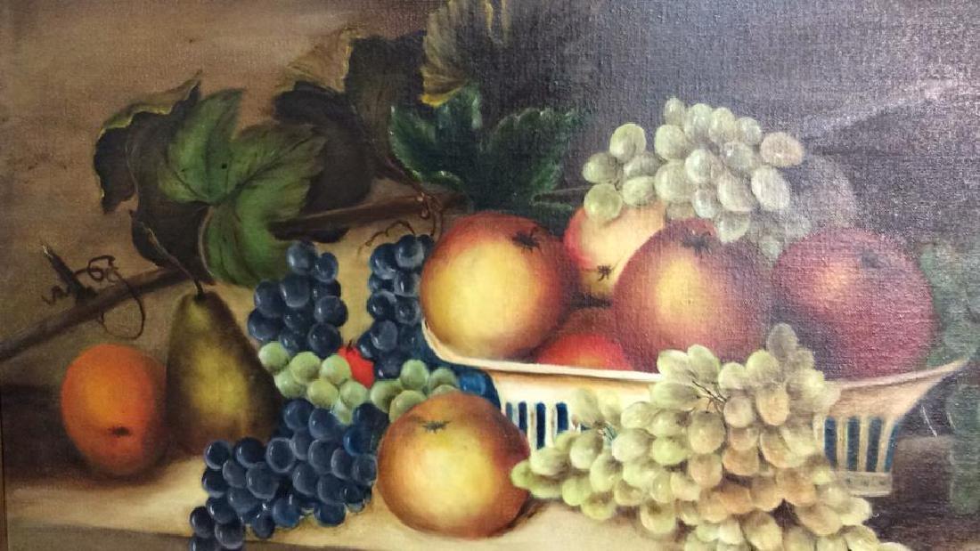 Framed Painted Fruit Still Life - 2