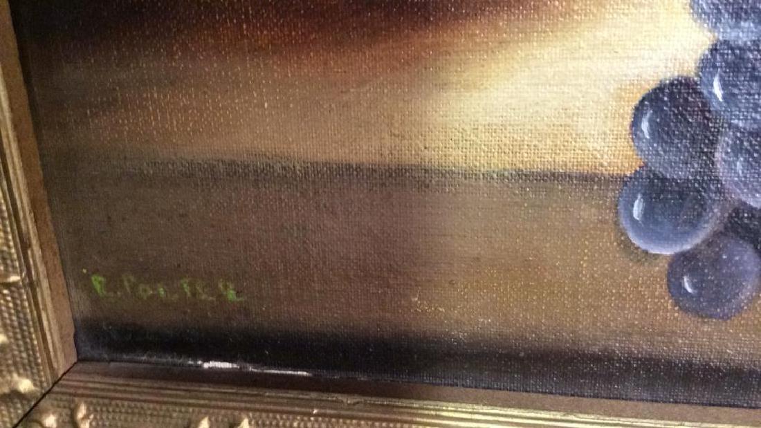 Framed Painted Fruit Still Life - 5