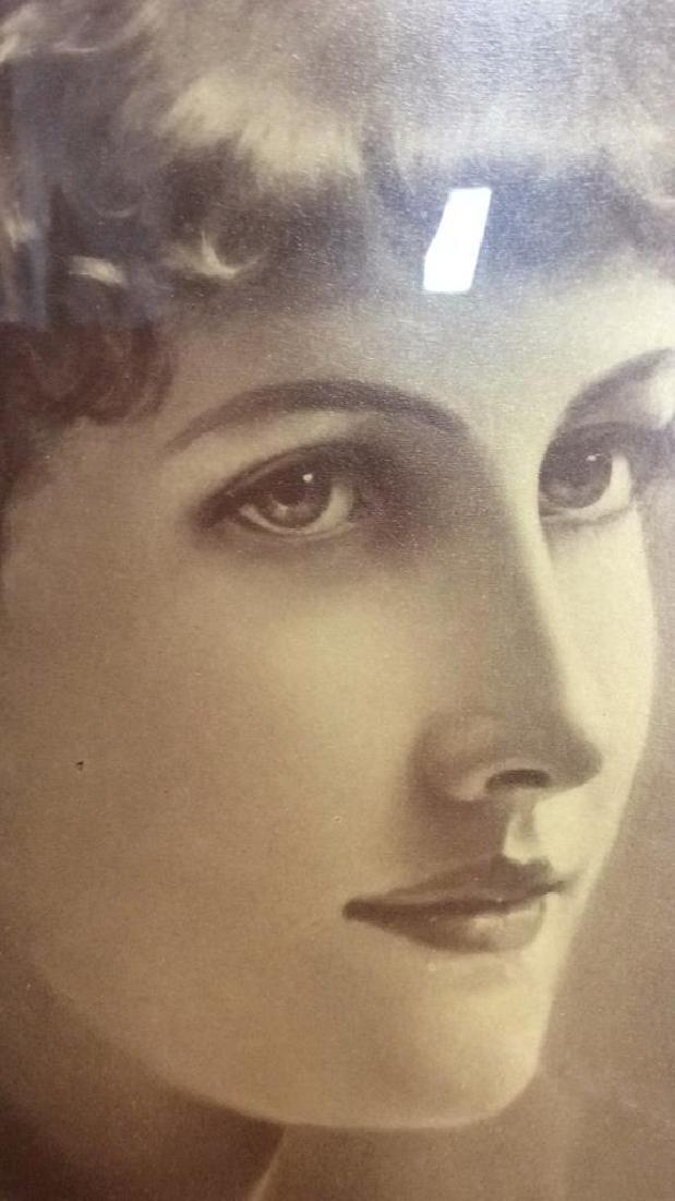 Framed Vintage Style Art Print Portrait of Woman