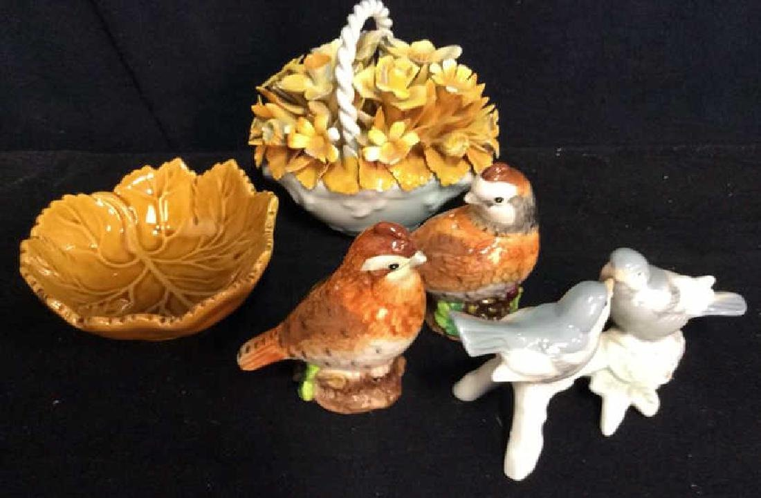 Lot 5 Porcelain Table Top Bird Decor