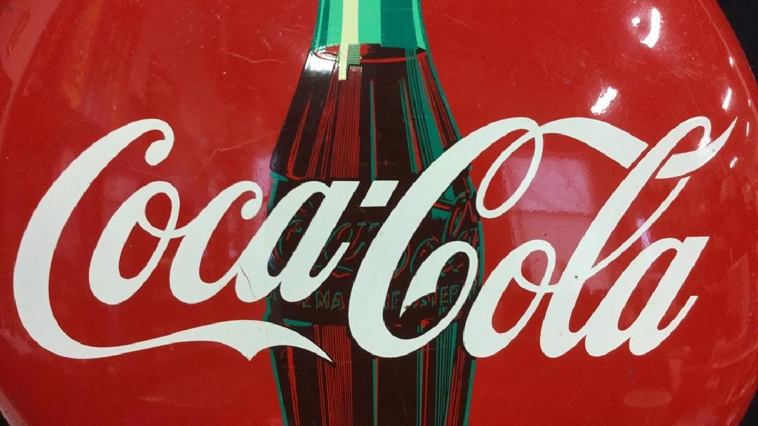 Vintage Coca-Cola Button Sign AM 74 - 5