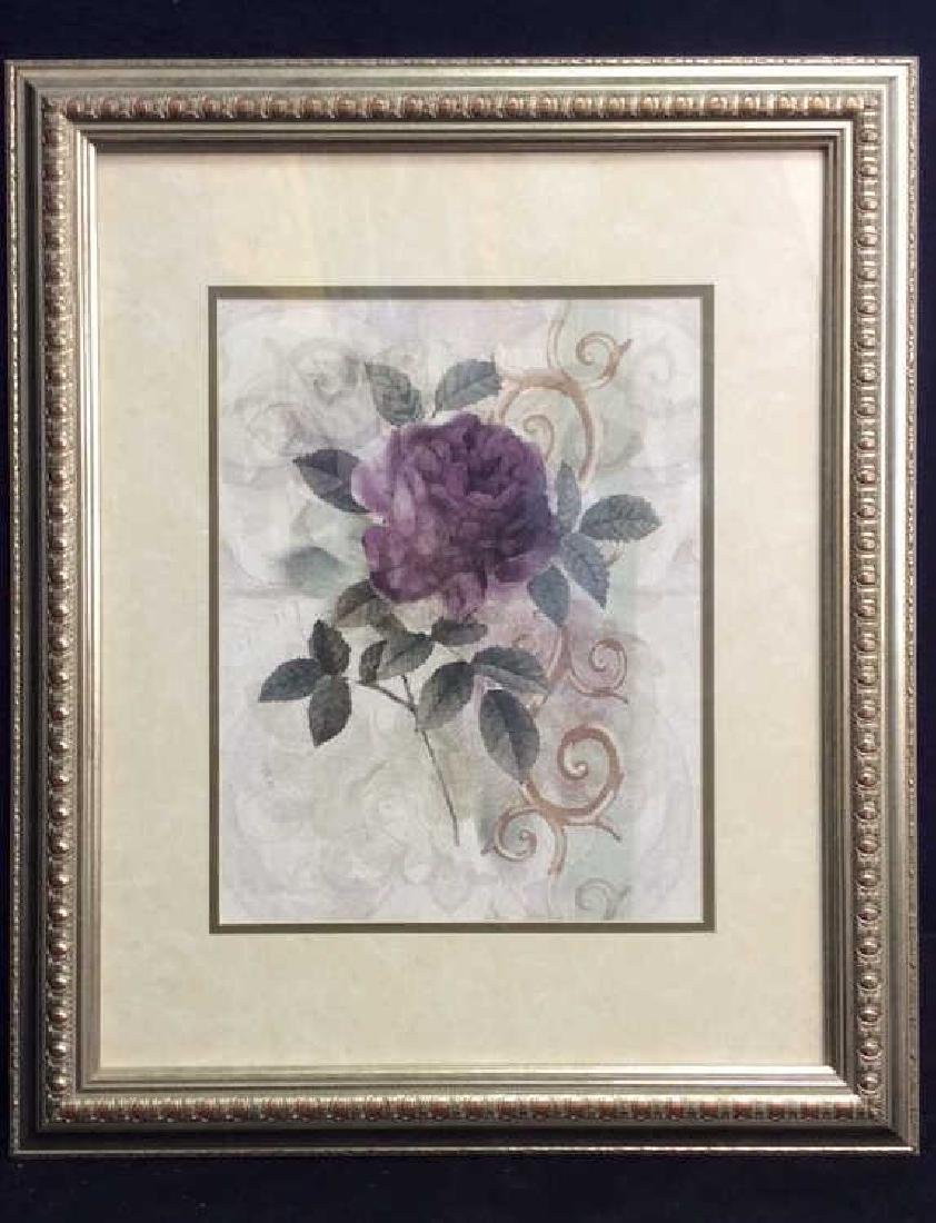 Framed & Matted Floral Botanical Print