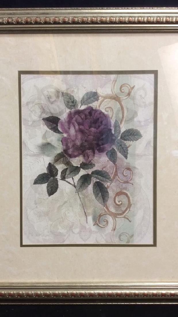 Framed & Matted Floral Botanical Print - 2