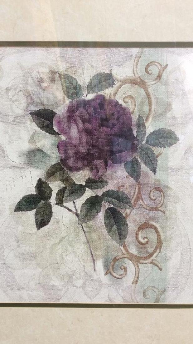 Framed & Matted Floral Botanical Print - 3